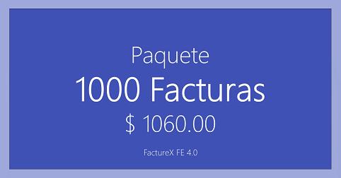 FactureX - Paquete de 1000 timbres