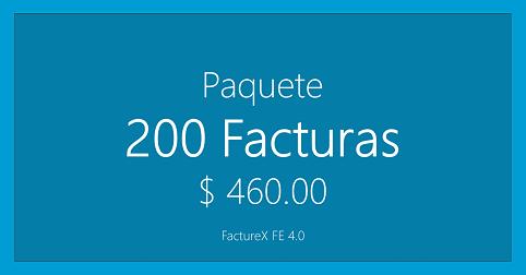 FactureX - Paquete de 200 timbres