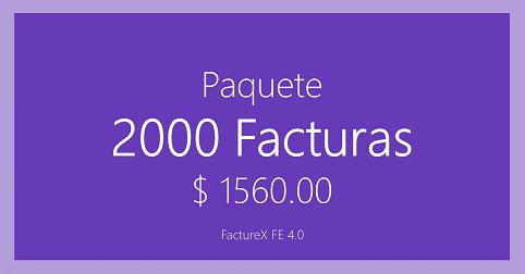 FactureX - Paquete de 2000 timbres